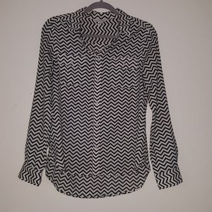 American Eagle Outfitters Chevron Blouse
